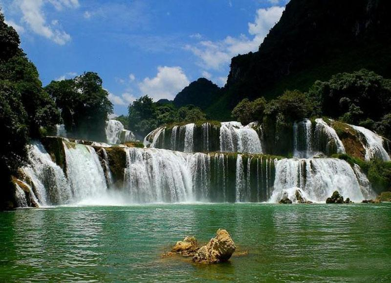 With multilevel falls, Detian Waterfall in China is over 200 meters wide and 60 meters high