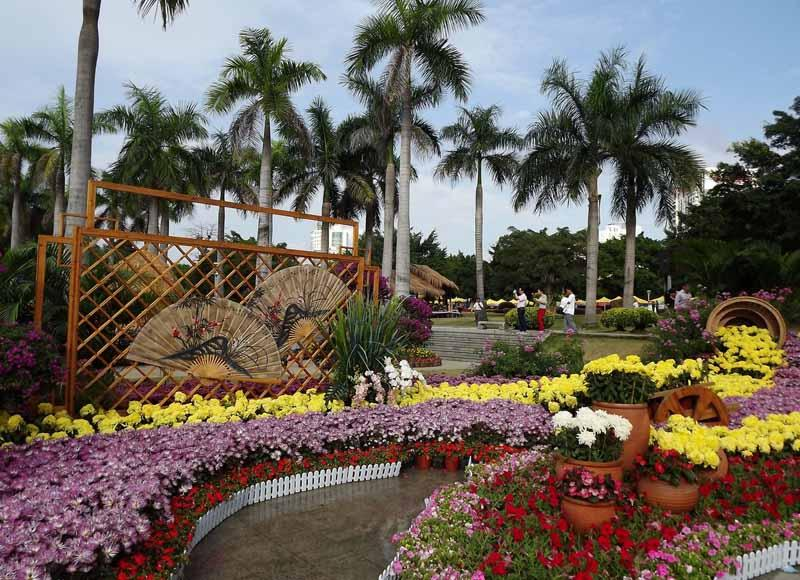 Chrysanthemum Show held in Nanhu Lake Park of Nanning
