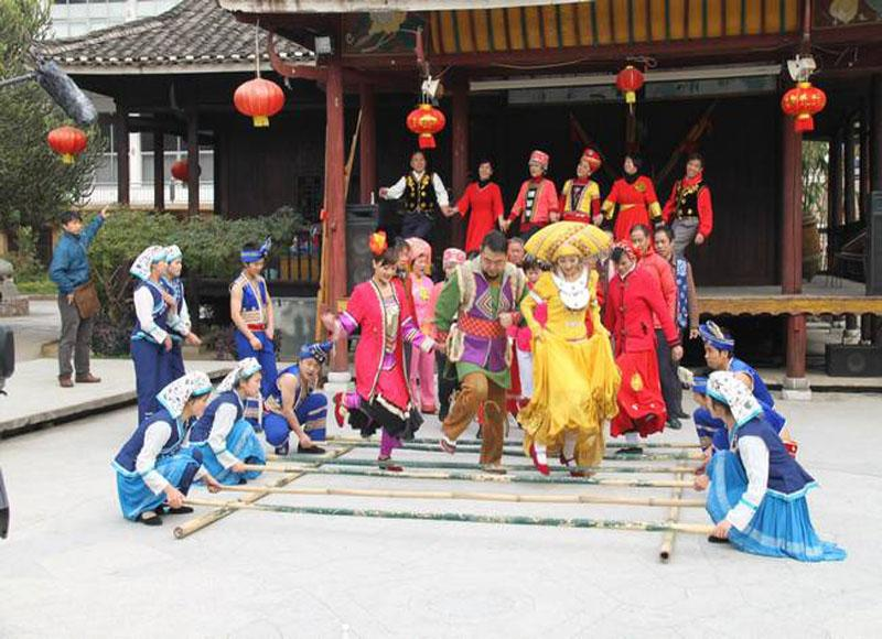 Ethnic minorities' performance in Guangxi Ethnic Relics Center
