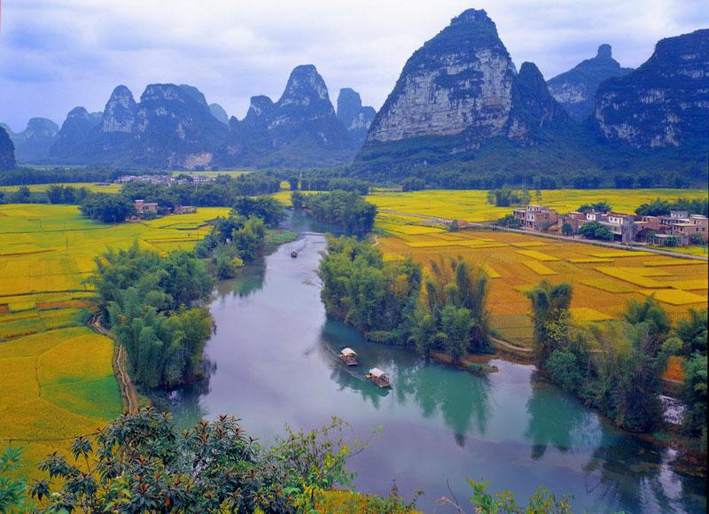 Beautiful scenery of Ming-shi Countryside in autumn