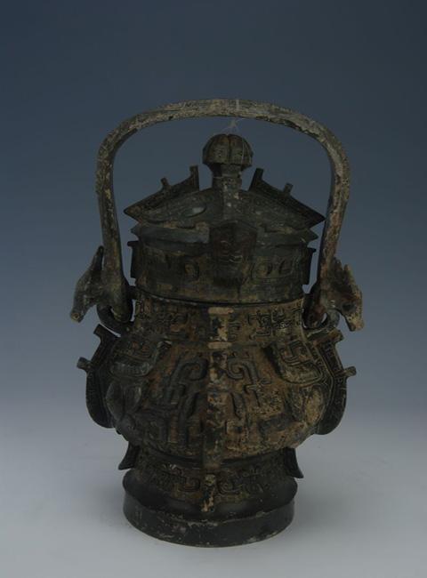 Bronze wine container made in ancient China's Shang Dynasty preserved in Guangxi Provincial Museum