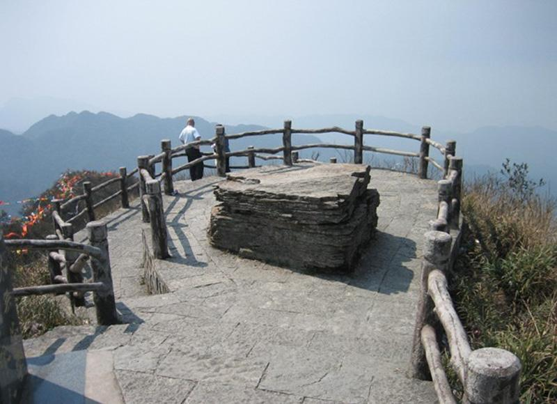 Sightseeing stand of Daming Mountain in Nanning, China