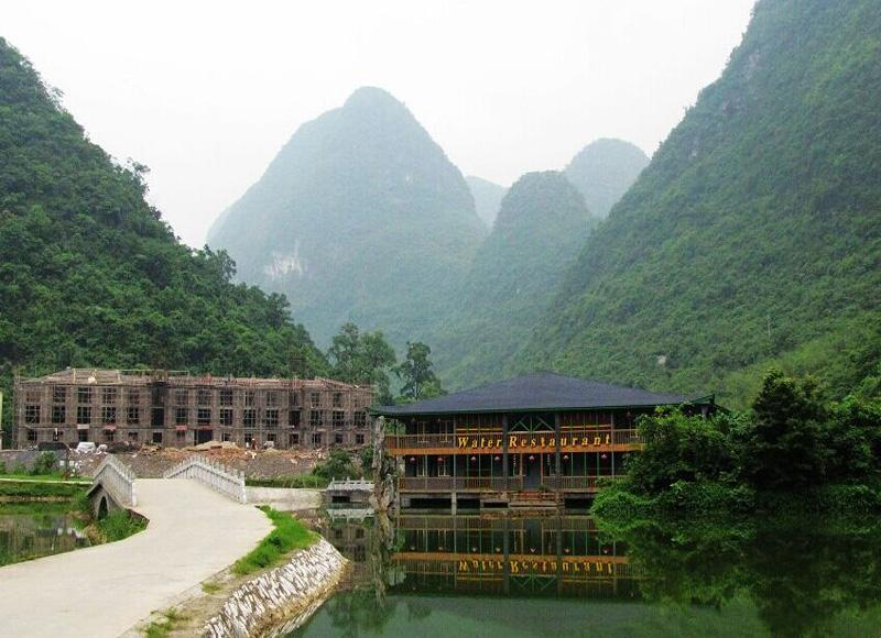 The Water Restaurant in Yongfu Cave Scenic Area of Guilin, China's Guangxi Province