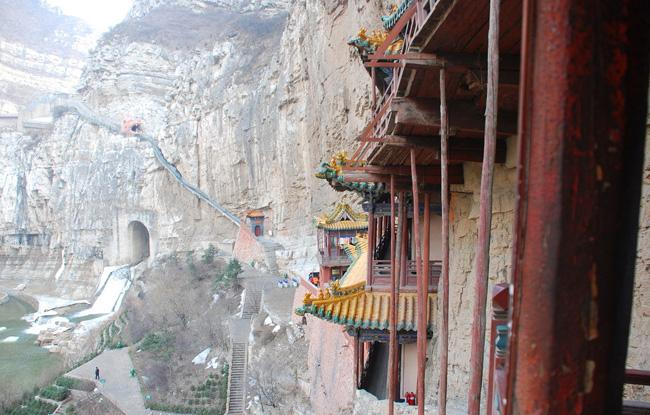 A view of the pathway seen from the temple.