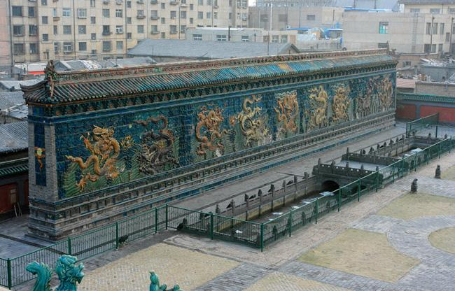 Datong Nine-dragon Screen was built 600 years ago.