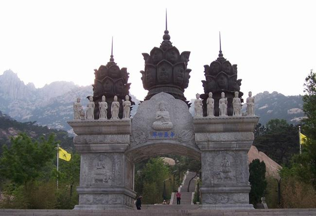The imposing gateway of the temple.