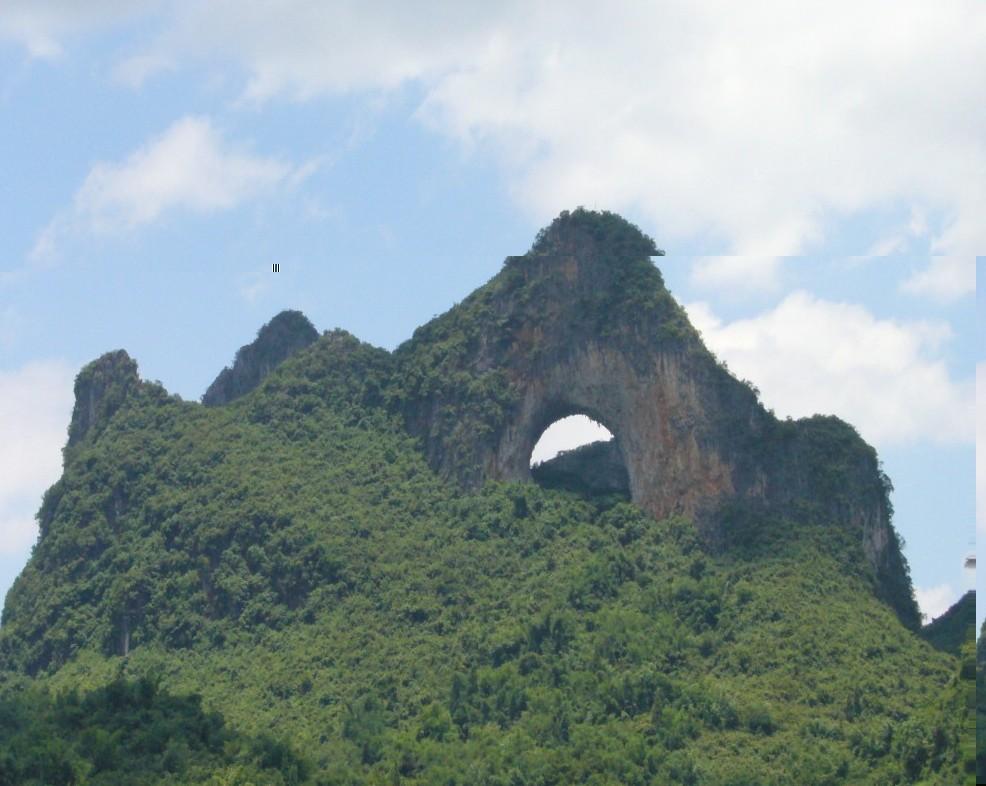 The Moon Hill Yangshuo Moon Hill Climbing Yangshuo Guilin