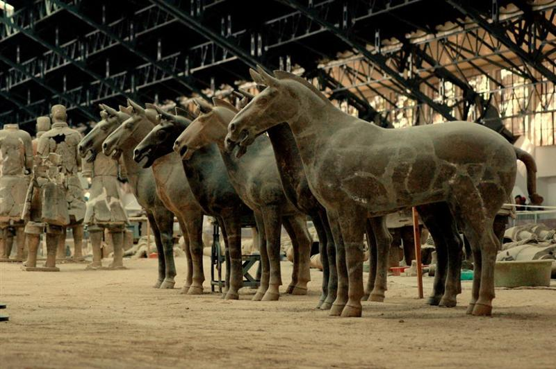 Chinese Terracotta Army, The Terracotta Army and Horses ...  Chinese Terraco...