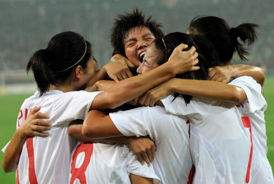 China beats Sweden 2-1 in Olympic women's soccer