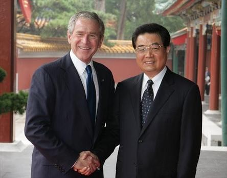 Hu to Bush: Time to lift US ties to a higher level