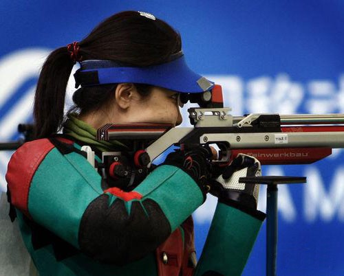 Du Li wins women's rifle 3 positions gold medal