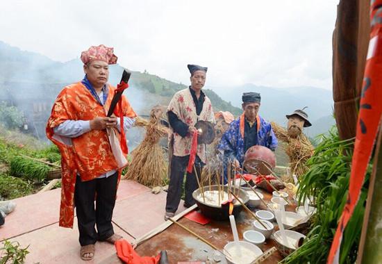 Combing Rice Seedling Festival in Longsheng