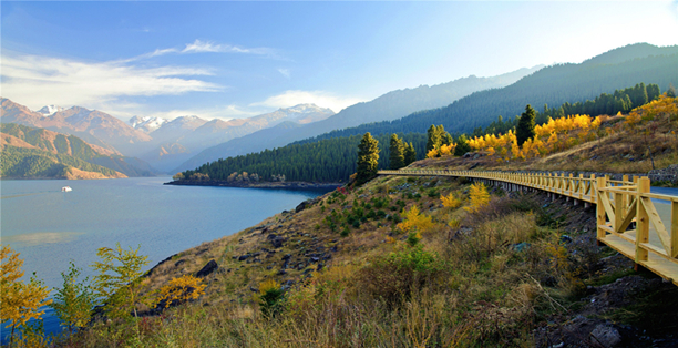 Heavenly Lake in China's Xinjiang