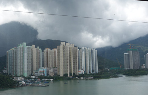 Apartments of Hong Kong as seen from the cable car
