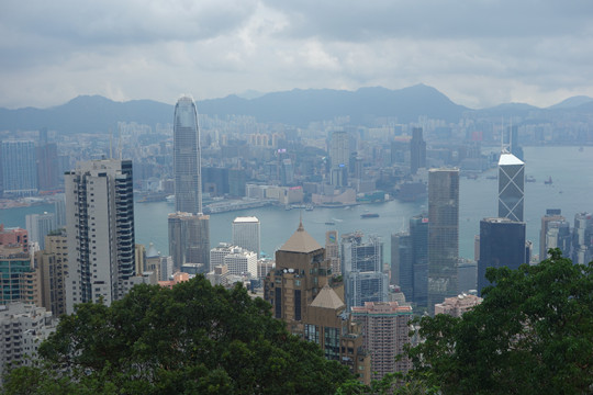 As seen from Victoria Peak