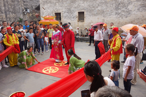 Traditional Chinese wedding in Xidi Village of Huangshan