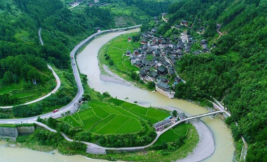 Jidao Miao Village in Kaili, China's Guizhou Province