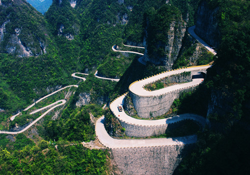 Heaven-linking Avenue in Tianmen Mountains Scenic Area