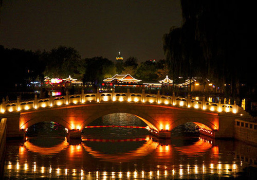 Shichahai Lake night scene, Beijing