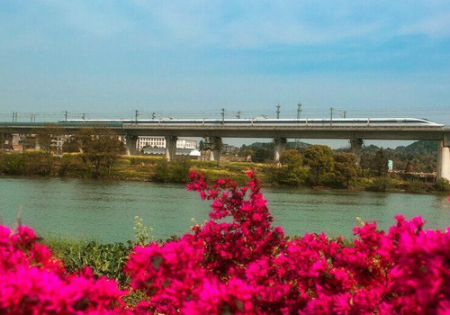 """China's """"most beautiful high-speed railway line"""" in service"""