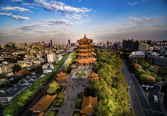 Landmark heritage tower in Wuhan fully reopen in June
