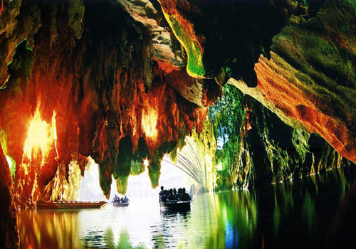 "Dragon Palace Cave in Anshun got its name because it looks like a crystal palace where the ""Dragon King"" lives."