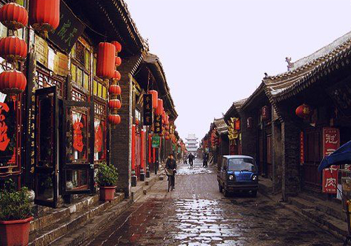 A glimpse of The Ming-Qing Street, Pingyao, Shanxi province