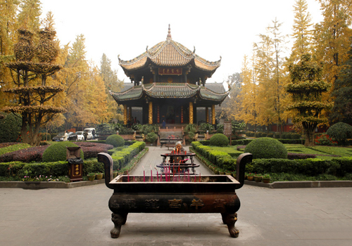 The Eight Trigrams Pavilion in Chengdu Green Ram Monastery