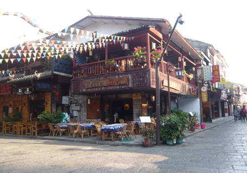 a glimpse of West Street,Yangshuo