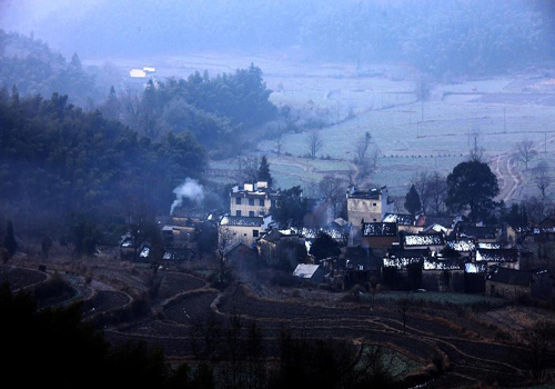 Ancient village scenery in China's Anhui