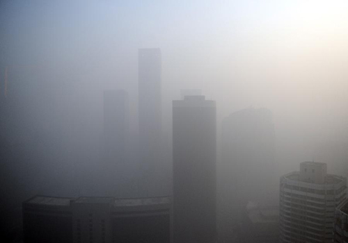 Dense Fog Envelops Cities in China