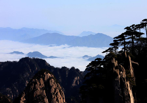 Sea of clouds at China's Huangshan Mountain