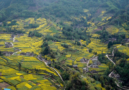 Aerial view of beautiful landscape of China's Lushan