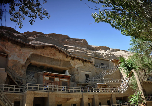 Mogao Grottoes in China's Gansu