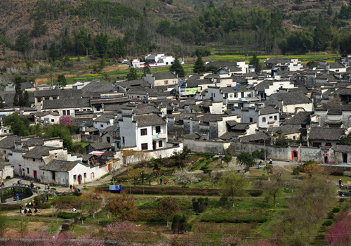 Spring scenery in Xidi Ancient Village