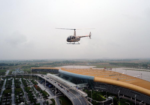 General view of Hefei Xinqiao International Airport in E China
