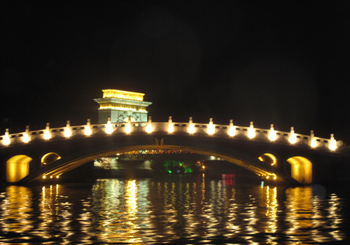 Evening scenery in Guilin water system