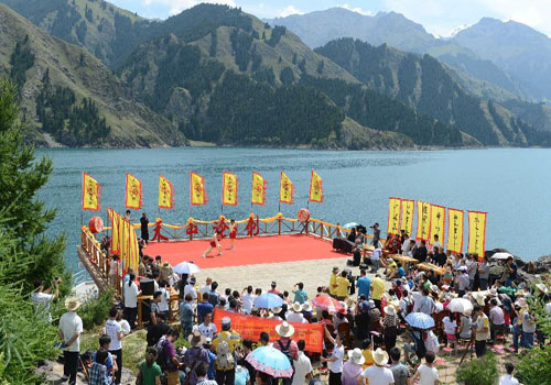 Martial arts festival held in NW China