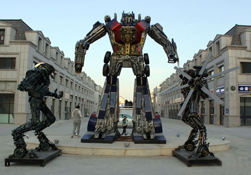 100 Transformers on Display in Harbin, Northeast of China
