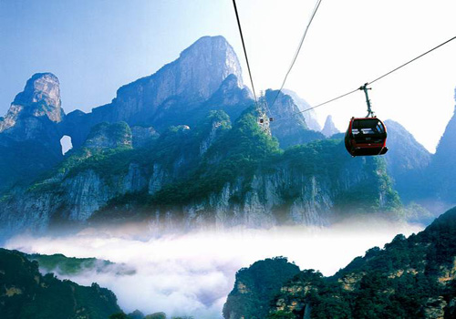 Cableway of Tianmen Mountains in Zhangjiajie Closed for Overhaul