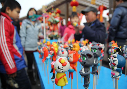 Temple Fair Held in Qingdao, East China
