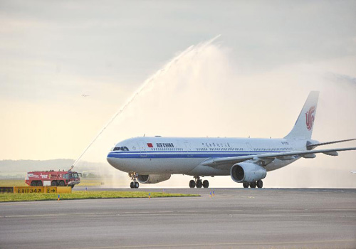 Air China launched flights from Beijing to Barcelona