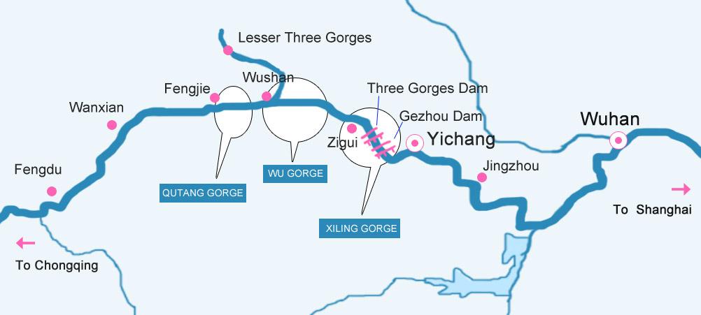 Yangtze River Maps , Yangtze River Cruise Guide, Yangtze Cruise. on