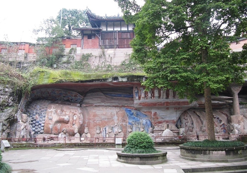 Baodingshan and Beishan are the most well-known and popular sites for marvelous carvings skills, magnificent scales, various religious themes, and lifelike statues.