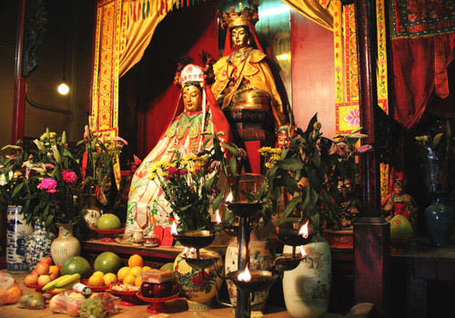 God of Literature and God of Martial Art are enshrined in Man Mo Temple in Hong Kong.