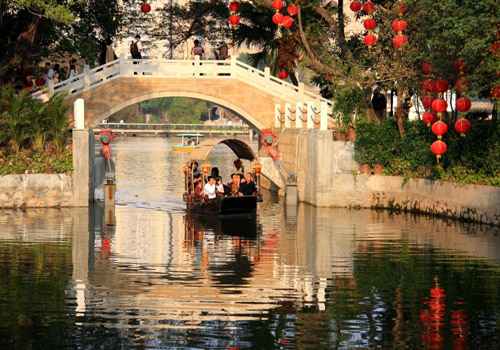 Drifing on the river of Xitang Ancient Town of Zhejiang.