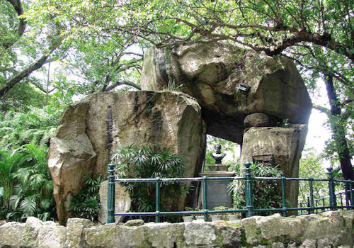 It was in this grotto that made up of three huge stones that Camoes created the epic Os Lusíadas.
