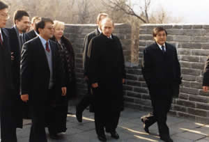 Russian President Putin Climbed up the Badaling Great Wall