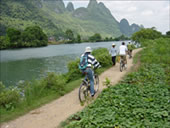 Bycycle Riding at Yangshuo, the Best Place for a Leisure Vacation