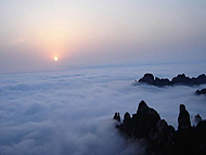 the Sunrise and Sea of Clouds of Yellow Mountain